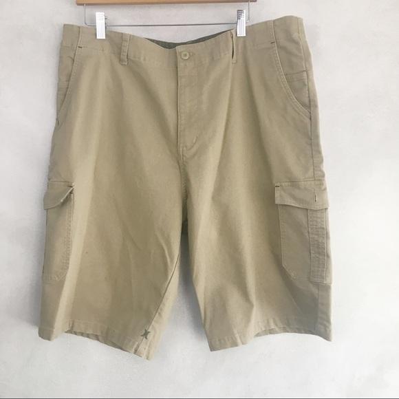 Hurley Men's Khaki Flat Front Shorts Pockets
